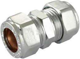 CHROME COMPRESSION COUPLING
